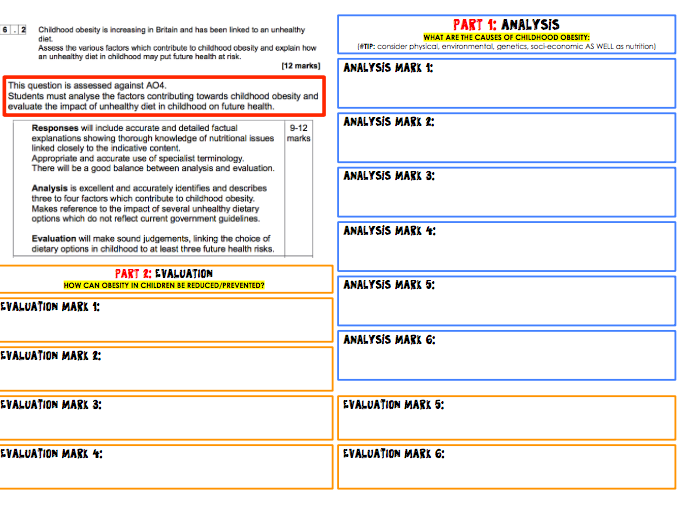 AQA GCSE Food Preparation & Nutrition - How to answer THE 12 mark question!