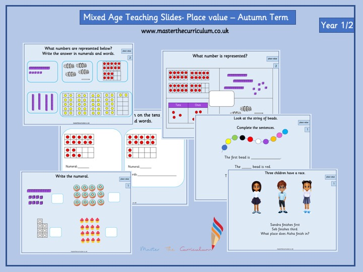 Mixed age group- Year 1/2 Autumn Term- Block 1- Place Value Teaching Slides