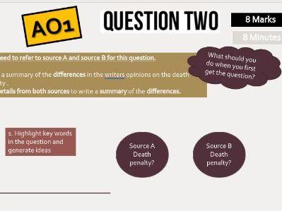 AQA Language Paper 2 Section A Q1, Q2, Q3