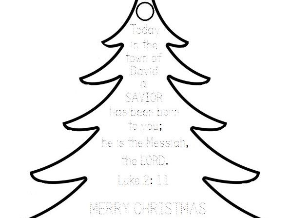 Christmas Ornament Printable with Bible Verse