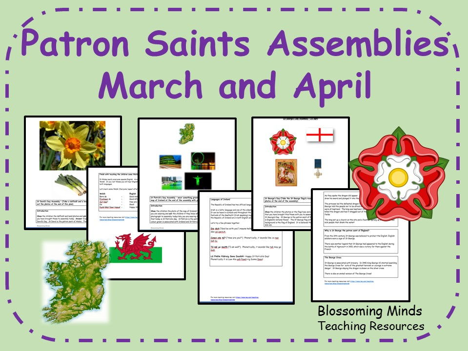 Patron Saints Assemblies - March and April - St David, St Patrick and St George