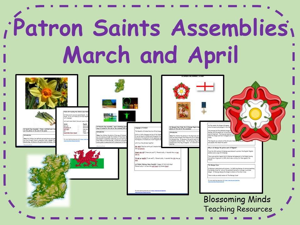 Patron Saints Assemblies - March and April - St David, St Patrick and St George
