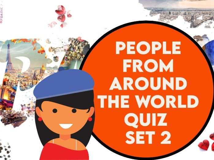 People From Around the World Caricature Quiz Set 2