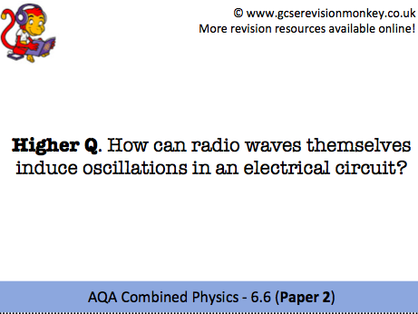 Revision Cards - AQA Combined Physics 6.6