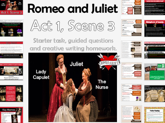 Romeo and Juliet- Act 1 Scene 3 (Lady Capulet and the Nurse) KS4