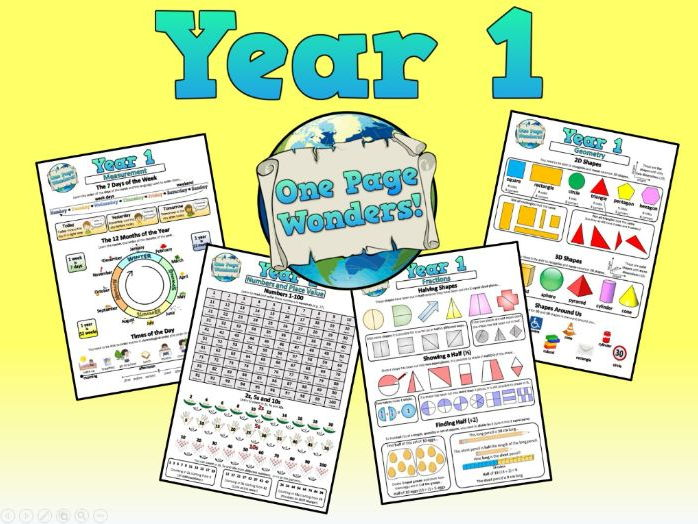 Maths Posters/Fact Sheets for ALL Year 1 Maths Objectives