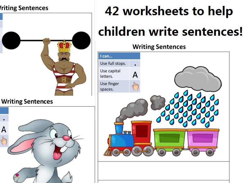 Writing Sentences Workbook