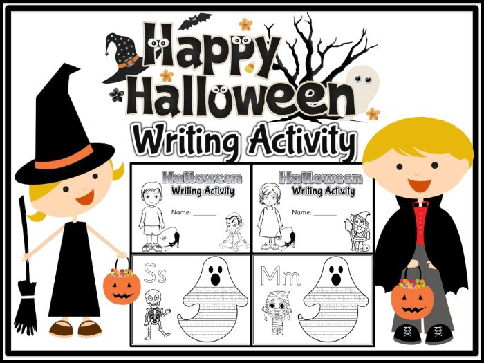 Halloween Writing Activity - Alphabet Tracing