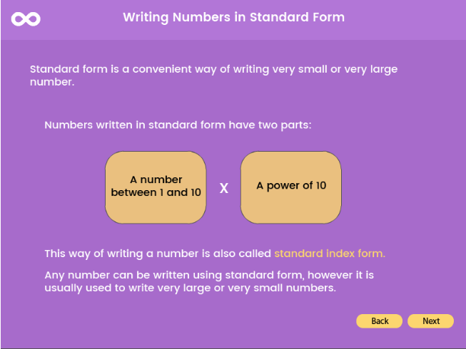 Standard Form - Year 9, Key stage 3