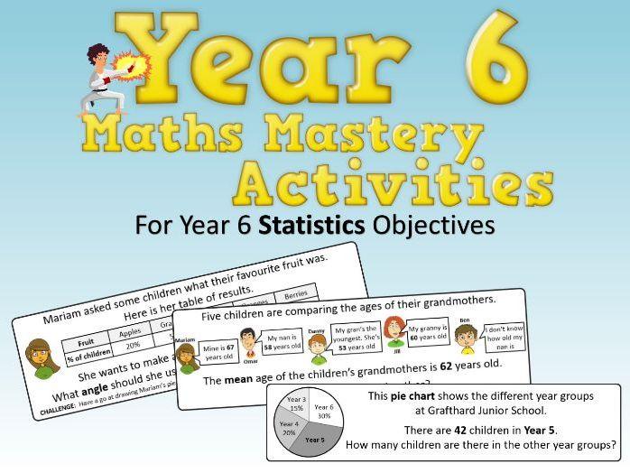 Statistics Mastery Activities – Year 6