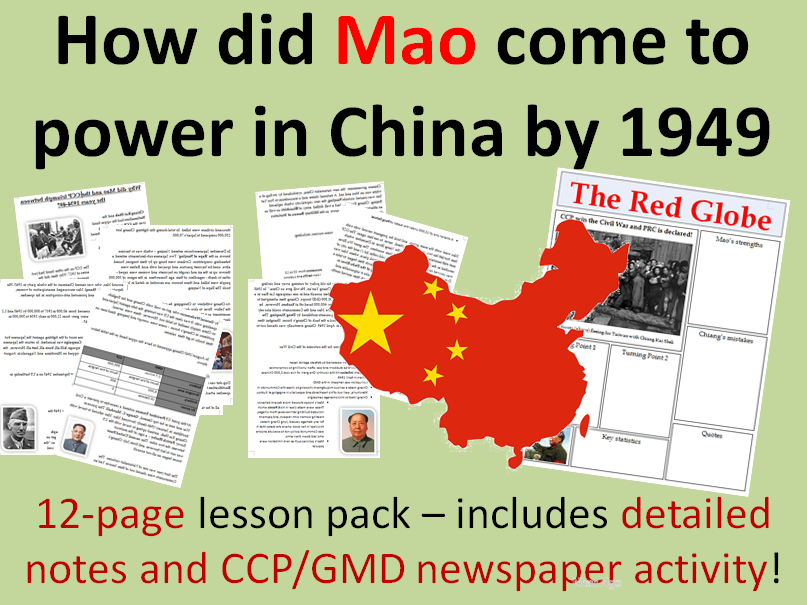 Mao Rise to Power - 12-page lesson pack