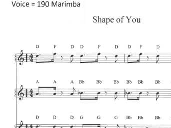 Shape of You - Ed Sheeran Differentiated performance activity