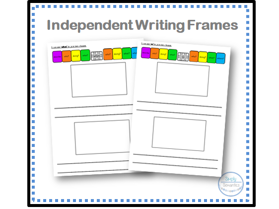 Colourful Semantics: Conjunctions Writing Frame