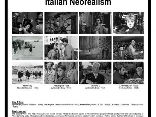 Italian Neorealism POSTER (.pdf) - Media Studies