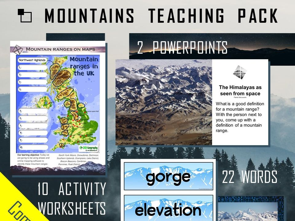 Mountain teaching pack