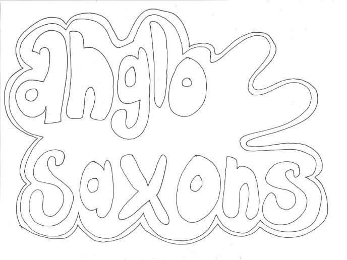 Anglo-Saxons Colouring Page