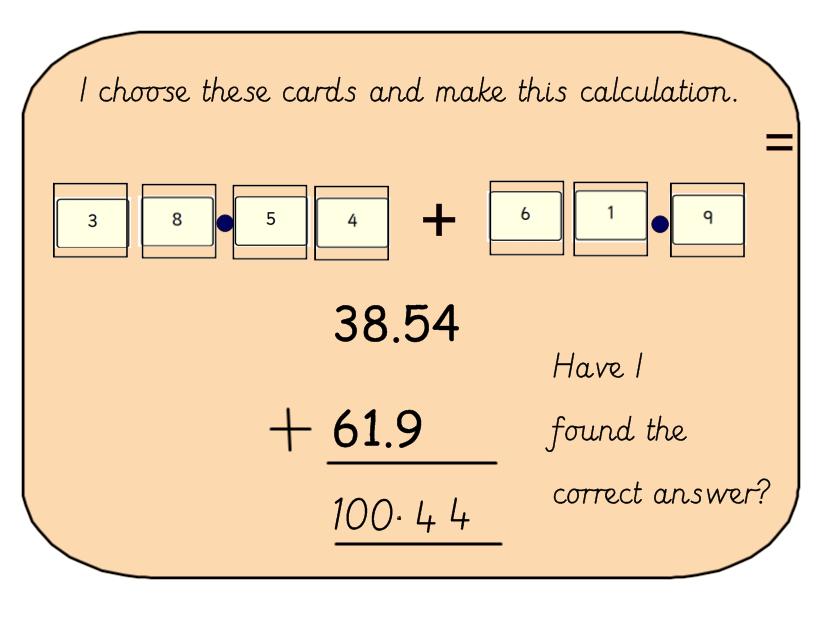 Decimal Number Additon Investigation Game