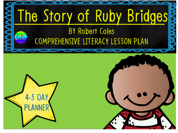 The Story of Ruby Bridges by Robert Coles 4-5 Day Lesson Plan