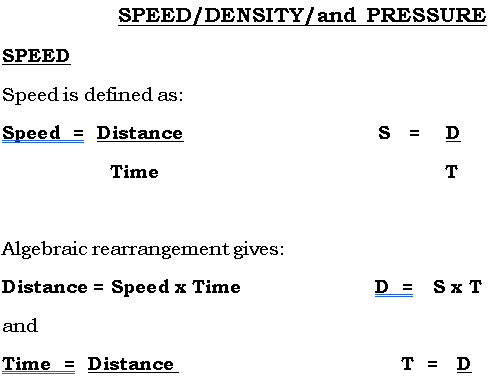 Speed, Density and Pressure GCSE (9-1)