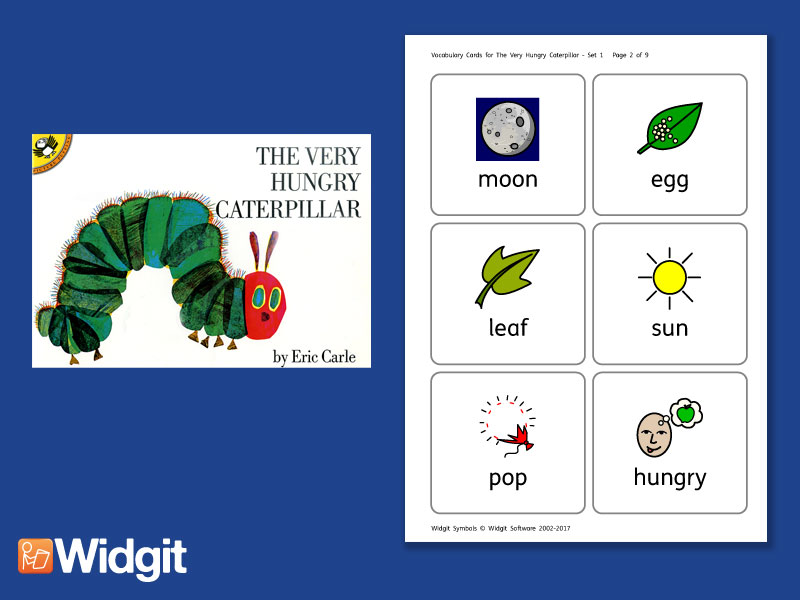 The Very Hungry Caterpillar - Big Book Flashcards with Widgit Symbols