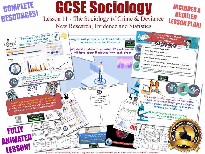 New Research, Evidence & Statistics - Crime & Deviance - L11/20 [ WJEC EDUQAS GCSE Sociology] (X2)