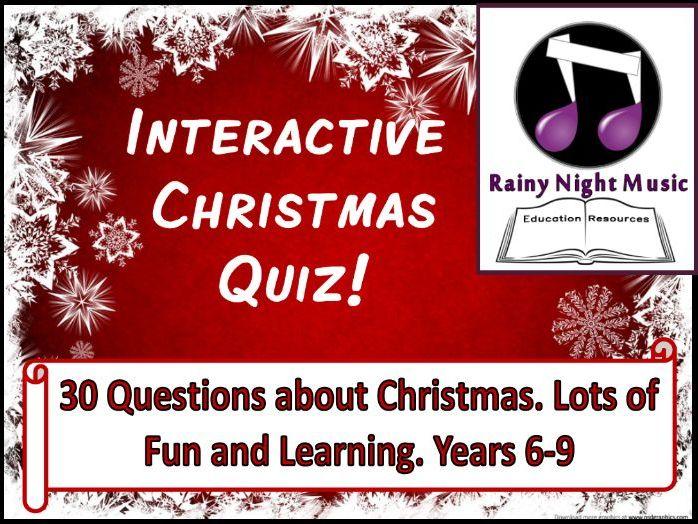 Interactive Christmas Quiz