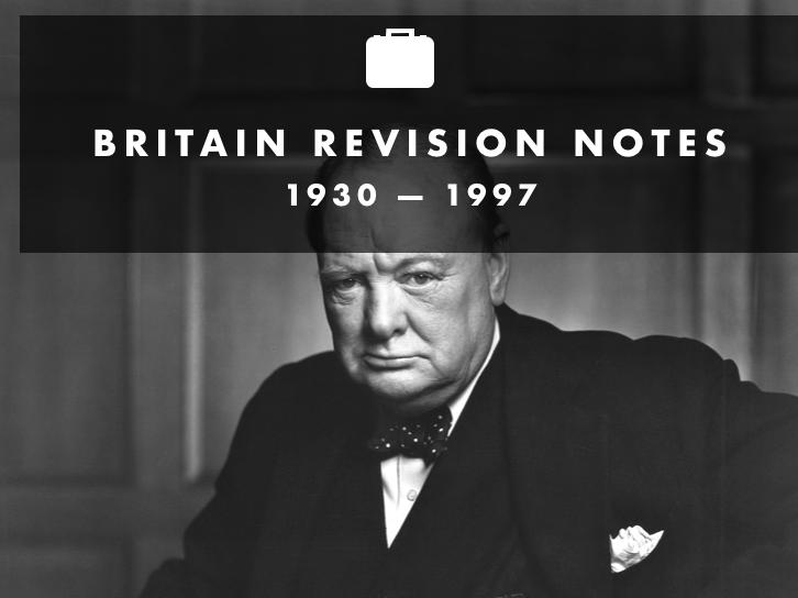 Britain 1930-1997 revision