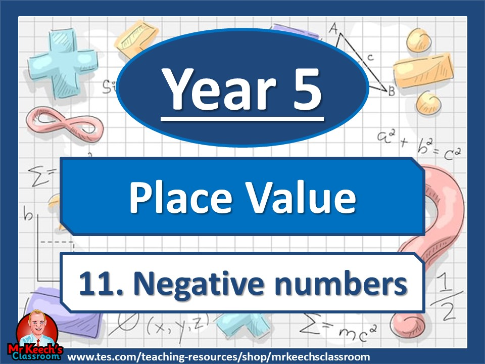 Year 5- Place Value - Negative Numbers - White Rose Maths