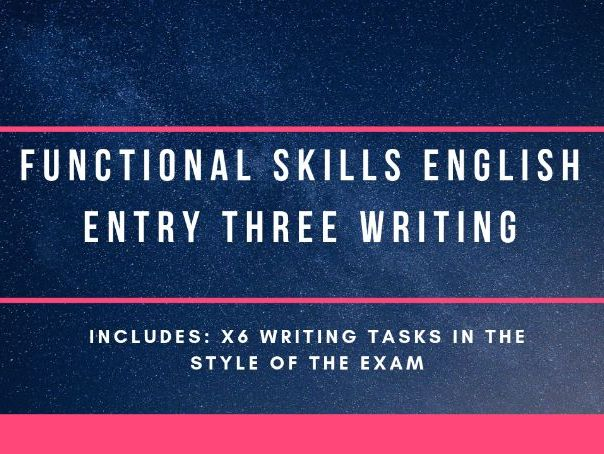 Entry 3 English Functional Skills writing ideas