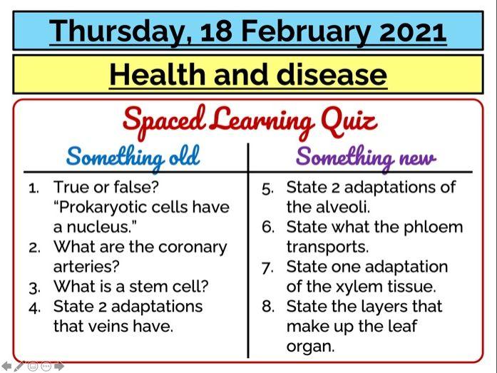AQA GCSE (9-1) - Health and disease (interpreting data)