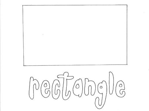 Rectangle: Shapes Colouring Page