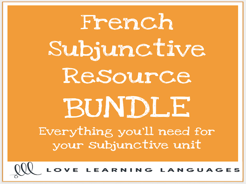 French Subjunctive Resources Bundle