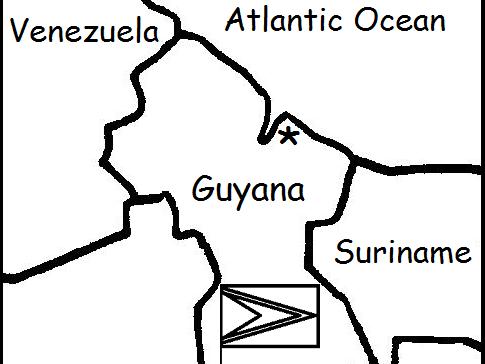 GUYANA - Printable handouts with map and flag