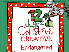 12 Days of Christmas Creative Endangered Animals Challenge