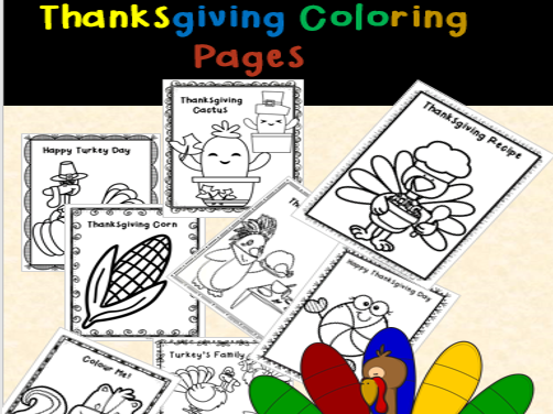 Thanksgiving Coloring Pages (Fall Coloring Pages)