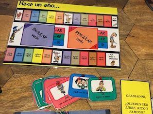 Game to practise the preterite tense - preterito - in Spanish