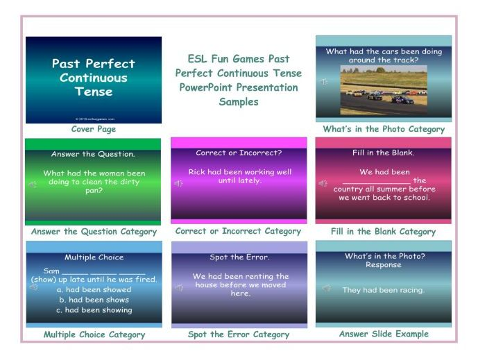 Past Perfect Continuous Tense PowerPoint Presentation