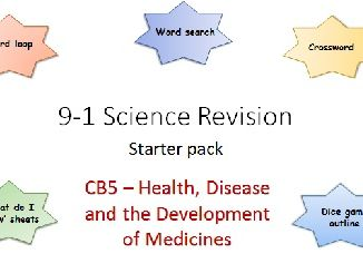 B5 Health, Disease and the Development of Medicines Revision starter pack Science 9-1