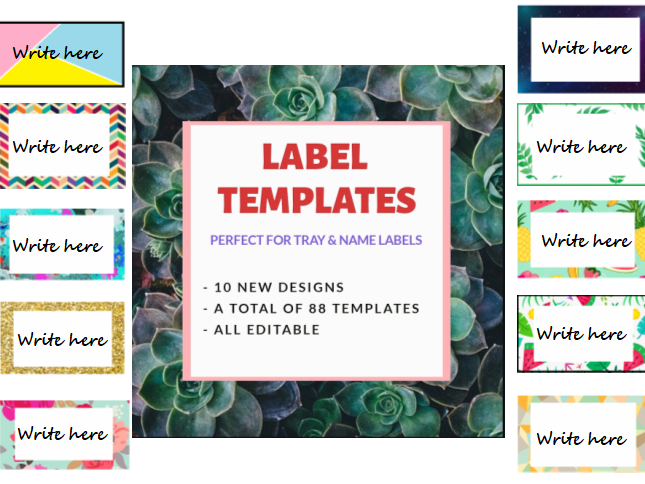 Label / Flash Card Templates