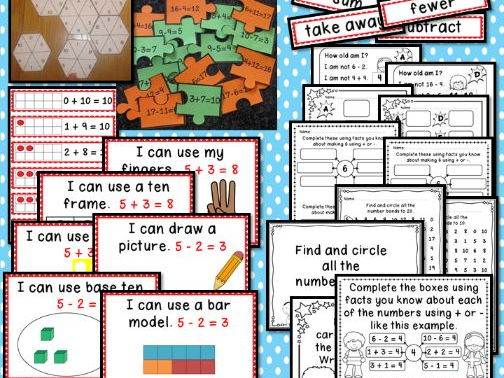 Interactive Place Value Displays & Challenge Table Activities Year 1 Addition & Subtraction