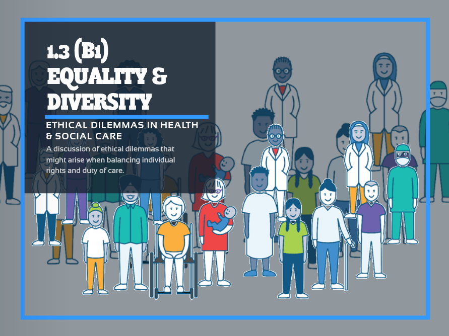 CM1 - Equality & Diversity (B1 1.3) Ethical Dilemmas