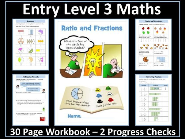 AQA Entry Level 3 Maths - Ratio - Fractions