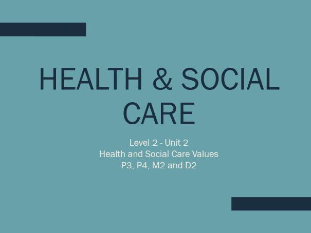 unit 1 health and social level3