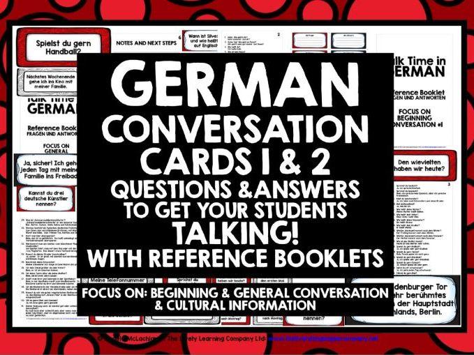 GERMAN SPEAKING CARDS 1&2