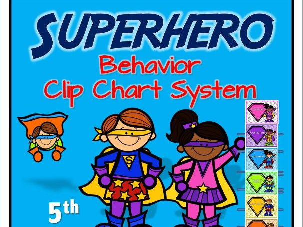 Superhero Behaviour Clip Chart System (Version 5)