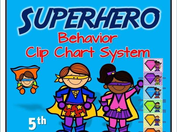 Superhero Behavior Clip Chart System (Version 5)