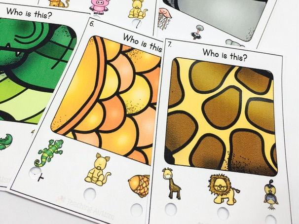 Animal Matching Poke Cards