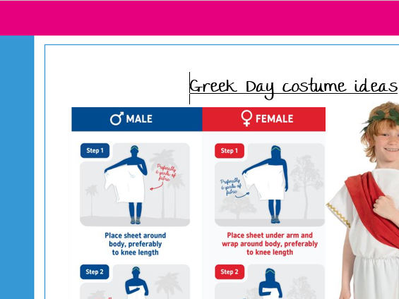 Greek Day Outfit Ideas - great resource for a parent handout
