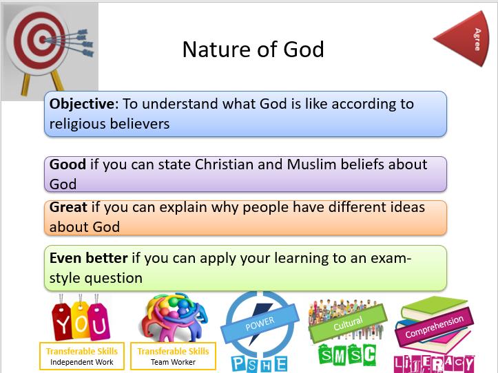 AQA Themes: Existence of God and Revelation: Nature of God - Whole Lesson