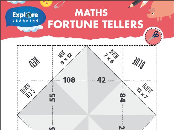 Free_Maths fortune tellers_Multiplication worksheet